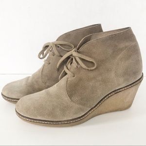 J. Crew MacAlister Suede Wedge Lace-up Bootie